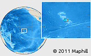 Shaded Relief Location Map of Hana Teio