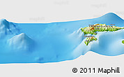 Physical Panoramic Map of Hana te Fau