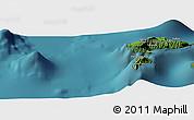 Satellite Panoramic Map of Hanatetena