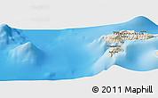 Shaded Relief Panoramic Map of Hanatetena