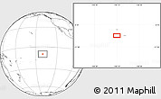"""Blank Location Map of the area around 9°46'31""""S,140°10'30""""W"""