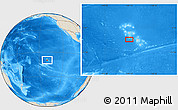 """Shaded Relief Location Map of the area around 9°46'31""""S,140°10'30""""W"""