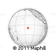 """Outline Map of the Area around 9° 46' 31"""" S, 140° 10' 30"""" W, rectangular outline"""
