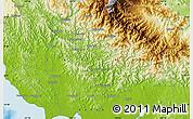 Physical Map of Uberegoro