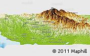Physical Panoramic Map of Uberegoro
