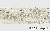 Shaded Relief Panoramic Map of Amau