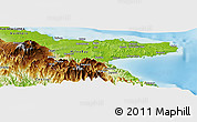 Physical Panoramic Map of Afamatuna