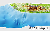 """Physical Panoramic Map of the area around 9°46'31""""S,159°52'30""""E"""