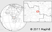 Blank Location Map of Chiumbe