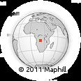 Outline Map of Cassaza, rectangular outline
