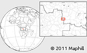 Blank Location Map of Cabo Catanda