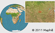 Satellite Location Map of Cabo Catanda