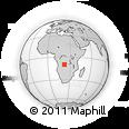 Outline Map of Chivundo, rectangular outline
