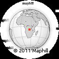 Outline Map of Zaji, rectangular outline
