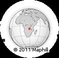 Outline Map of Masinga, rectangular outline