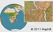 Satellite Location Map of Chimbola