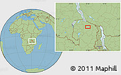 Savanna Style Location Map of Chimbola