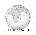 Outline Map of Mjimwema, rectangular outline