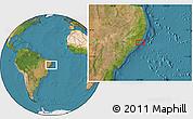 "Satellite Location Map of the area around 9°46'31""S,35°37'30""W"