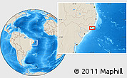 """Shaded Relief Location Map of the area around 9°46'31""""S,35°37'30""""W"""