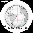 Outline Map of Maceió, rectangular outline