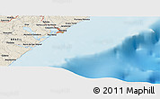 Shaded Relief Panoramic Map of Maceió