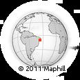 Outline Map of Arapiraca, rectangular outline