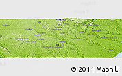 Physical Panoramic Map of Arapiraca