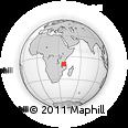 Outline Map of Hemedi, rectangular outline
