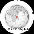 Outline Map of Lindi, rectangular outline