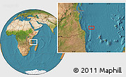 "Satellite Location Map of the area around 9°46'31""S,41°43'30""E"