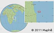 "Savanna Style Location Map of the area around 9°46'31""S,41°43'30""E"