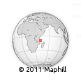 "Outline Map of the Area around 9° 46' 31"" S, 41° 43' 30"" E, rectangular outline"
