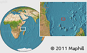 "Satellite Location Map of the area around 9°46'31""S,44°16'29""E"