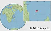 "Savanna Style Location Map of the area around 9°46'31""S,44°16'29""E"