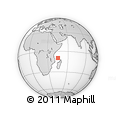 "Outline Map of the Area around 9° 46' 31"" S, 45° 7' 30"" E, rectangular outline"