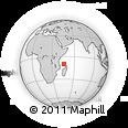 "Outline Map of the Area around 9° 46' 31"" S, 45° 58' 30"" E, rectangular outline"
