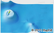 """Physical 3D Map of the area around 9°46'31""""S,46°49'30""""E"""