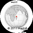 "Outline Map of the Area around 9° 46' 31"" S, 46° 49' 30"" E, rectangular outline"