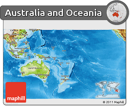 Free 3d Map Of Australia.Free Physical 3d Map Of Australia And Oceania