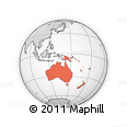 Outline Map of Australia and Oceania
