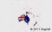 Flag Simple Map of Australia and Oceania