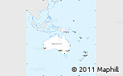 Silver Style Simple Map of Australia and Oceania, single color outside