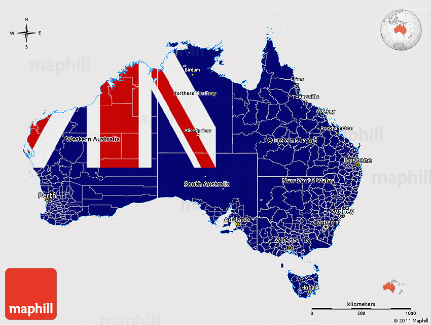 3d Map Of South Australia.Flag 3d Map Of Australia Flag Aligned To The Middle