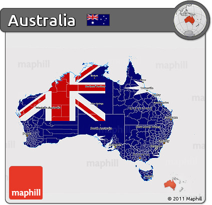 Free 3d Map Of Australia.Free Flag 3d Map Of Australia Flag Rotated