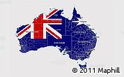 Flag 3D Map of Australia, flag rotated
