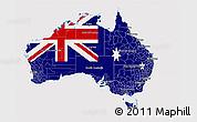 Flag 3D Map of Australia