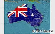 Flag 3D Map of Australia, satellite outside