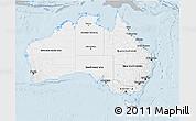 Gray 3D Map of Australia, single color outside