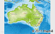 Physical 3D Map of Australia